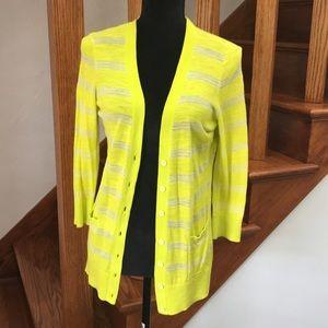 Ann Taylor Loft Neon Cardigan, 3/4 Sleeves